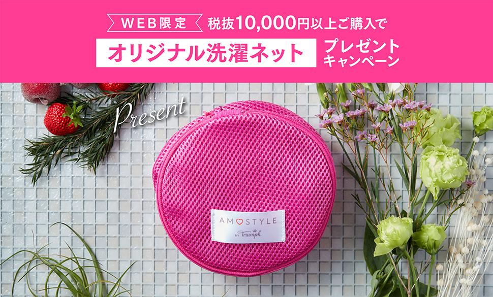 WEB限定 税抜10,000円以上ご購入でオリジナル洗濯ネットプレゼントキャンペーン